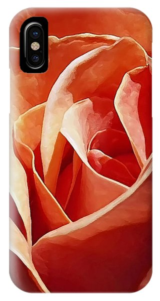 Flower Abstract In Orange IPhone Case