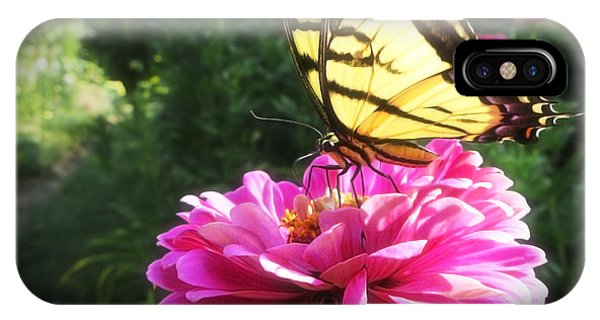 Flower And Butterfly IPhone Case