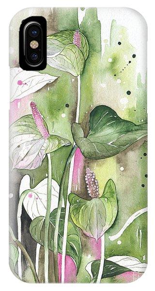 Flower Anthurium 04 Elena Yakubovich IPhone Case