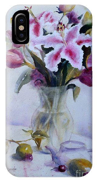 Flower Bouquet With Teapot And Fruit IPhone Case