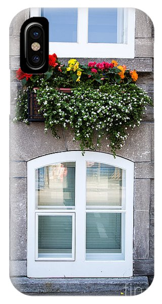 Quebec City iPhone Case - Flower Box Old Quebec City by Edward Fielding