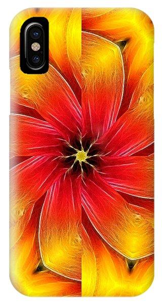 Flower Close-up--fractalius Kaleidoscope IPhone Case