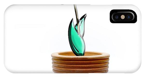 Cutout iPhone Case - Flower In A Pot. Concept by Bernard Jaubert