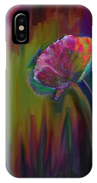 Violet Flame iPhone Case - Flower In Flames by Lenore Senior