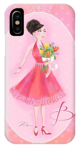 Flower Ladies-belle IPhone Case