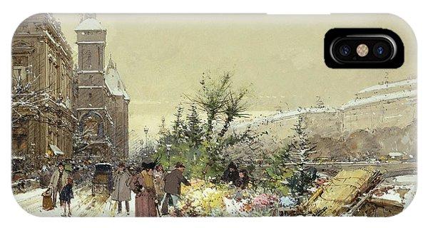 Flower Market Marche Aux Fleurs IPhone Case