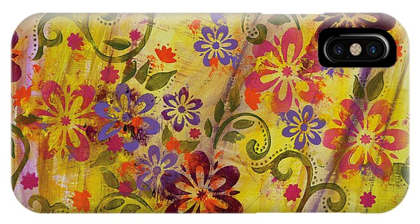 iPhone Case - Flower Power by Julie Acquaviva Hayes