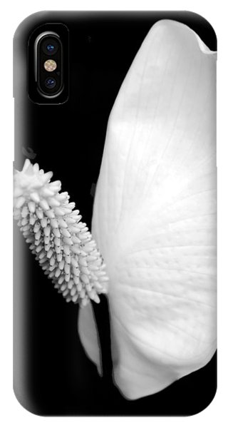 Floral iPhone Case - Flower Power Peace Lily by Tom Mc Nemar