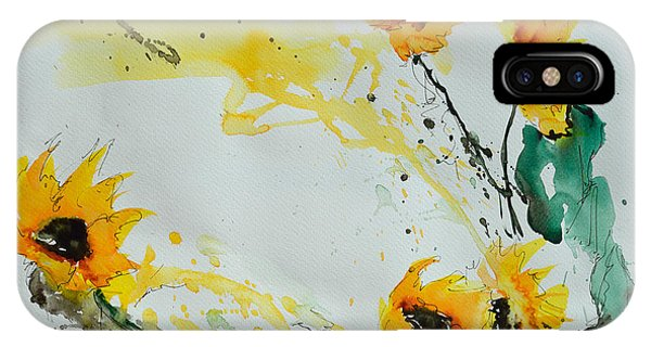 Flower Power- Sunflower IPhone Case