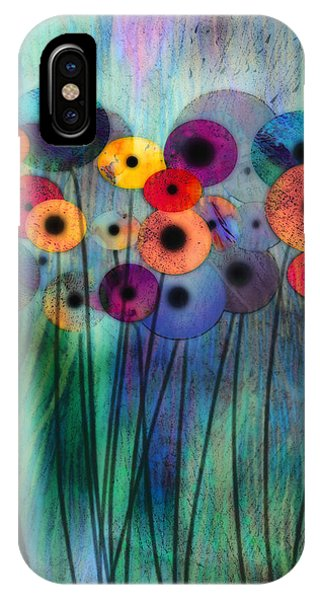 Contemporary Floral iPhone Case - Flower Power Three by Ann Powell