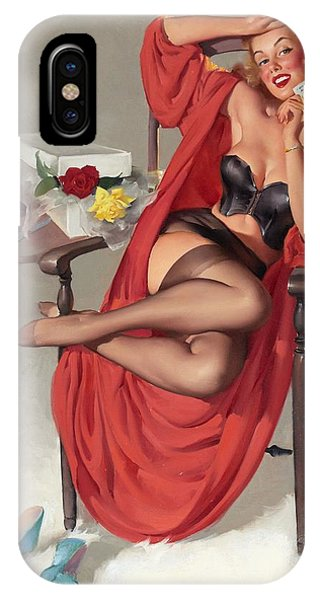 Flower Surprise Pin-up Girl IPhone Case
