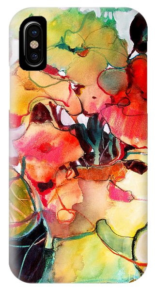 IPhone Case featuring the painting Flower Vase No. 2 by Michelle Abrams