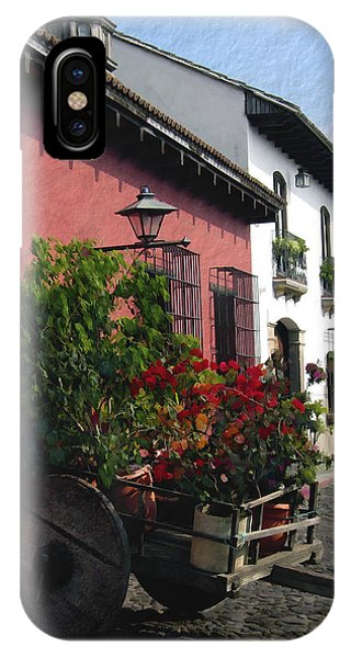 Flower Wagon Antigua Guatemala IPhone Case