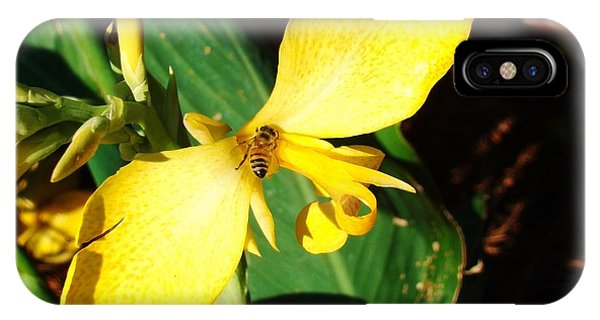 Flower With A Bee Phone Case by Van Ness