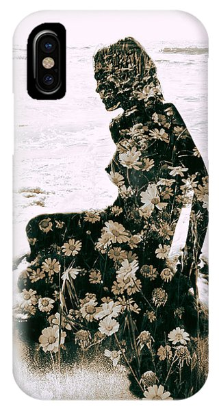 Well Being iPhone Case - Flower Woman1 by Stelios Kleanthous