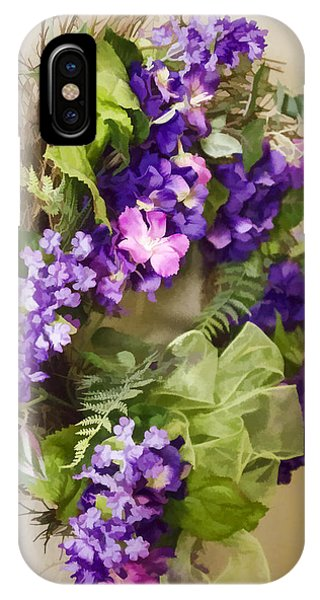 IPhone Case featuring the digital art Flower Wreath by Photographic Art by Russel Ray Photos