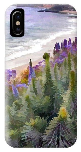 Laguna Beach iPhone Case - Flowering Coastline by Elaine Plesser