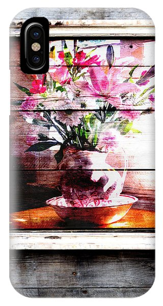 Flowers And Wood IPhone Case