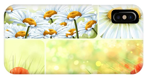 Poppies iPhone Case - Flowers Collage by Veronica Minozzi