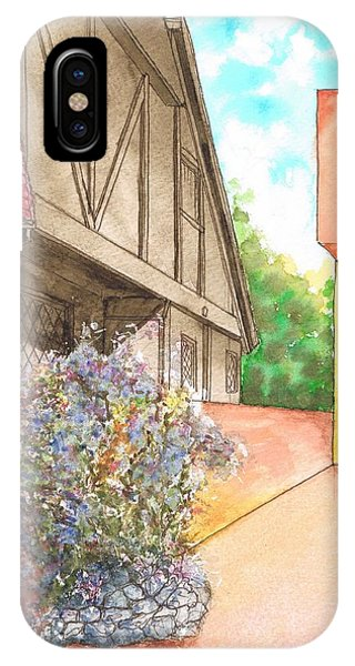 Flowers In A Brown Wall In Venice Beach - California IPhone Case