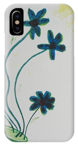 Flowers In A Jade Vase Phone Case by Debbie Nester