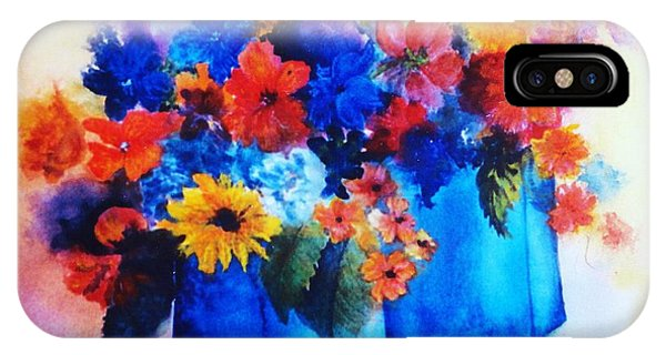 Flowers In Blue Vases IPhone Case