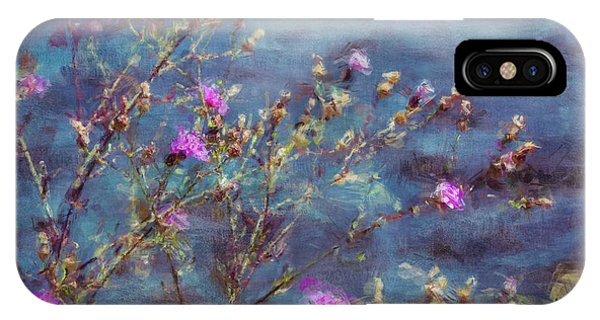Flowers In Pink And Blue IPhone Case