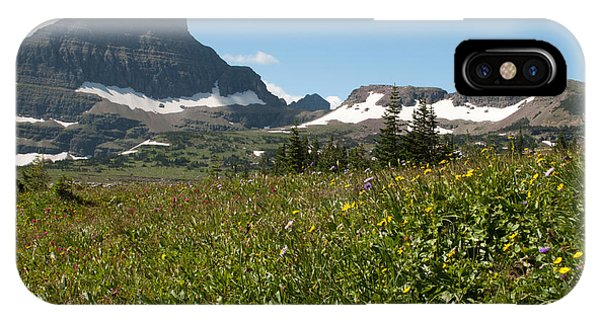 Flowers On Logan Pass IPhone Case