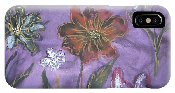 Flowers On Silk IPhone Case