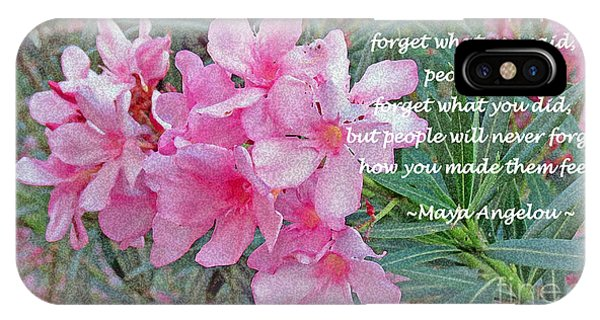 Maya iPhone Case - Flowers With Maya Angelou Verse by Kay Novy