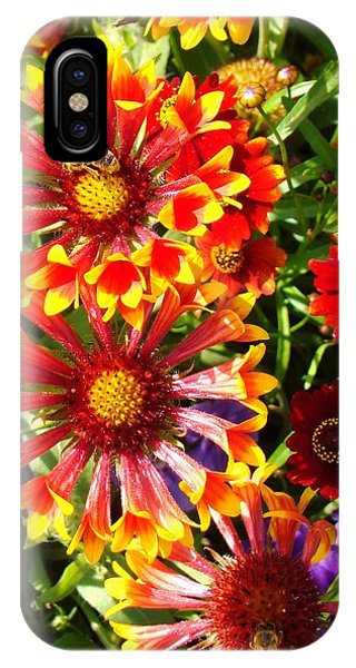 Flowers With Pollinators Phone Case by Van Ness