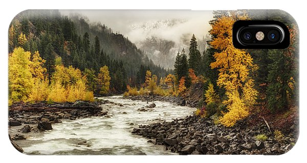 Flowing Through Autumn IPhone Case