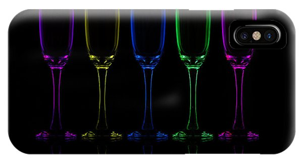 Wine Glass iPhone Case - Flutes by Howard Ashton-jones