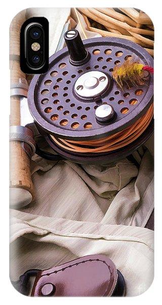 Fielding iPhone Case - Fly Fishing Still Life by Edward Fielding