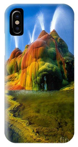Alga iPhone X Case - Fly Geyser Travertine by Inge Johnsson