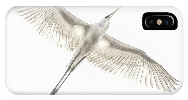 Egret iPhone Case - Fly by Keren Or