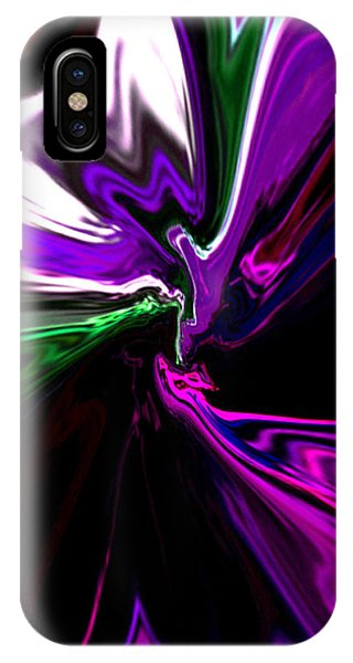 Purple Rain Homage To Prince Original Abstract Art Painting IPhone Case