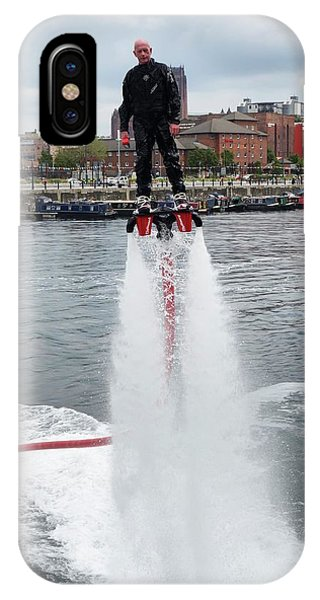 Jet Ski iPhone Case - Flyboard by Cordelia Molloy