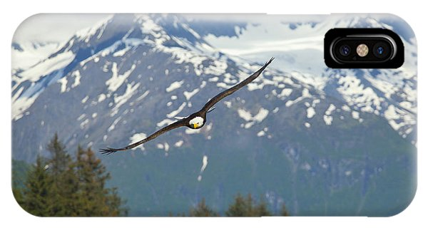 Flying Amongst The Mountains Phone Case by Tim Grams