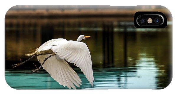 Flying Egret IPhone Case