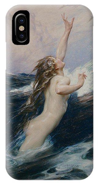 Reach iPhone Case - Flying Fish by Herbert James Draper