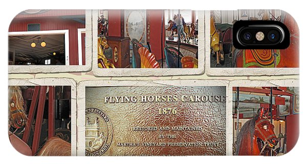 iPhone Case - Flying Horse Collage by Barbara McDevitt