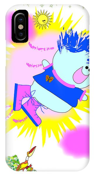 Flying In My Magic Shoes Phone Case by Chris Morningforest