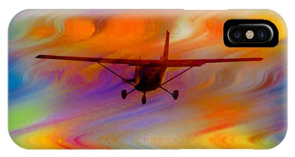 Flying Into A Rainbow IPhone Case
