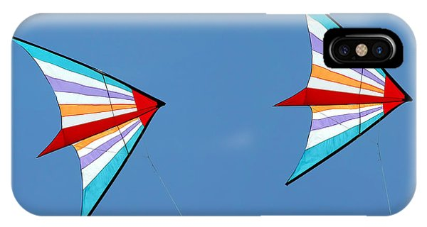 Flying Kites Into The Wind IPhone Case