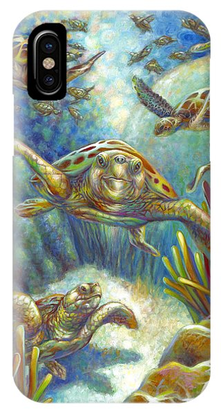 Flying Loggerhead Turtles IPhone Case