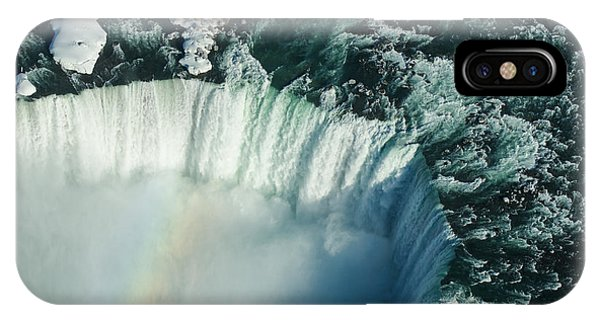 Flying Over Icy Niagara Falls IPhone Case