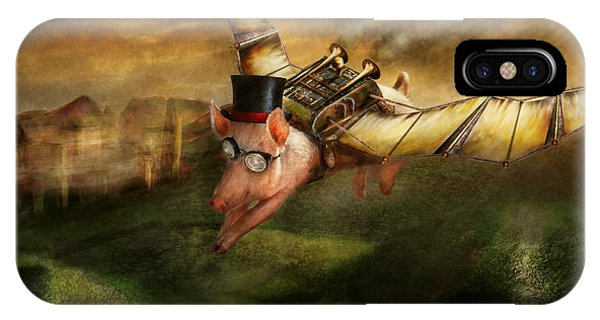 Flying Pig - Steampunk - The Flying Swine IPhone Case