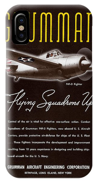 Grumman Flying Squadrons Up IPhone Case