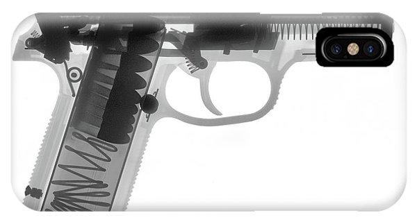 Calico M100 iPhone Case - Fn P9a Hand Gun X-ray Print by Ray Gunz